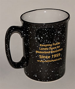 Back of black mug