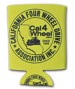 Cal4Wheel can koozie