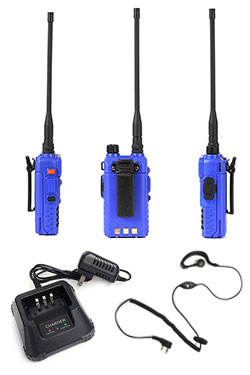 Rugged Radios handheld back, sides and accessories