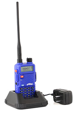 Rugged Radios handheld radio in charger