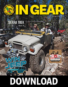 Download the June/July 2020 edition of Cal4Wheel's In Gear magazine