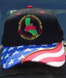 CA4WDC embroidered black hat American Flag