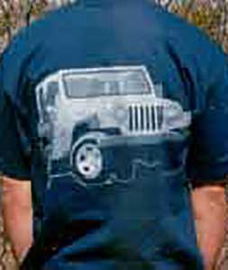Vehicle T-Shirt - Jeep CJ7 - Black - Large
