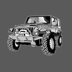 Youth Vehicle T-Shirt - Jeep JK 4-Door - Gray - Large